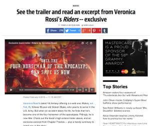 Veronica Rossi's 'Riders' trailer and excerpt | EW.com 2016-02-10 07-19-16